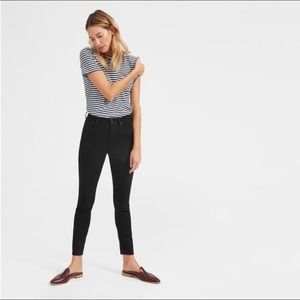 Everlane High-Rise Skinny Jean Ankle Black 25